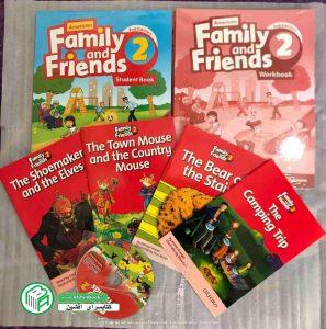 فامیلی اند فرند 2 - family and friends 2 ویرایش دوم امریکن به همراه کتاب کار و سی دی و 4 کتاب داستان